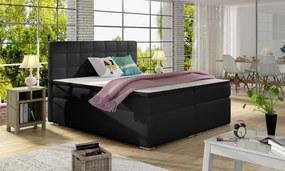 Moderná box spring posteľ Alvares 180x200, čierna