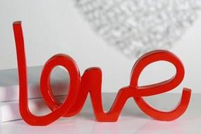 Bighome - Dekorácia LOVE - červená
