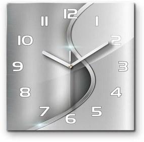 Sklenené hodiny štvorec Metalová abstrakcie pl_zsk_30x30_s_268882187