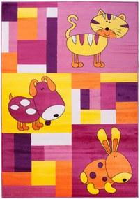 Detský kusový koberec Manny ružový, Velikosti 80x150cm