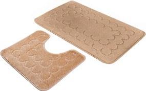 Kúpeľňové predložky set 2 kusov Castor hnedé