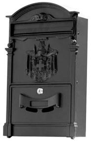 Poštová schránka 65.200 čierna matná, 410 x 255 x hĺbka 90 mm