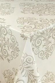 Obrus PVC zámocký vzor hnedý, metráž, šírka 140 cm, IMPOL TRADE