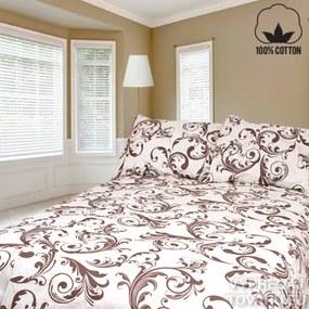 ORNAMENT 140 x 200 cm hnedá bavlnené obliečky