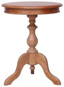 vidaXL Príručný stolík prírodný 50x50x65 cm mahagónový masív