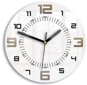 3kraft Nástenné hodiny Armando biele