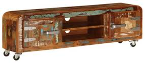 vidaXL TV skrinka z recyklovaného dreva 120x30x36 cm
