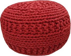 KUDOS Textiles Pvt. Ltd. Sedací vak TEA POUF 9 červený - 40x40x35 cm