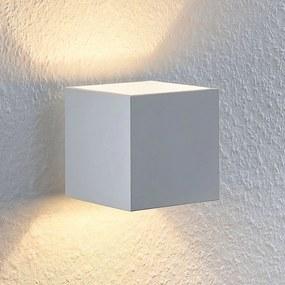 Lindby Mirza nástenné svetlo hliník, hranaté biele