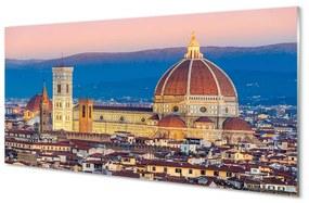 Nástenný panel Taliansko katedrála panoráma v noci 125x50cm