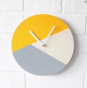 Žlto-sivé hodiny