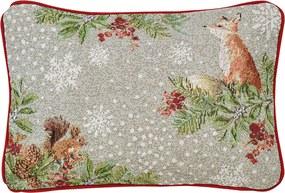Vianočný vankúš Out in the Snow 32 x 48 cm - Sander