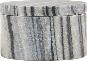 HOUSE DOCTOR Sada 2 ks − Šedá mramorová úložná krabička Marble
