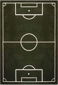 Detský zelený koberec Hanse Home Football Field, 80 × 150 cm