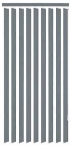 Vertikálne látkové rolety, šedé, 195x250 cm
