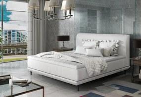 Expedo Čalouněná postel CASANDRA + topper, 140x200, soft 17/ pasy 2 soft 17