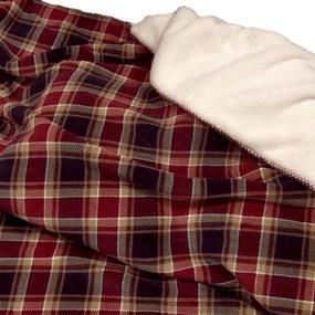 Fleecový prehoz Kody 220x240cm Barva: červená, Velikost: 220x240