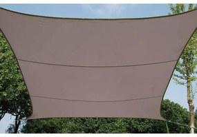 Perel Tieniaca plachta štvorcová 3,6 m sivohnedá GSS4360TA