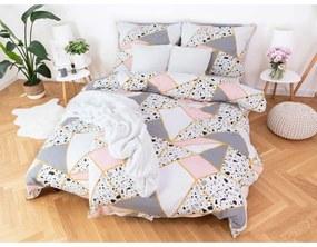 MKLuzkoviny.cz Bavlnené obliečky na 2 postele – Nadira růžová 140x200/70x90 cm