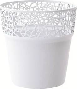 Prosperplast Obal na kvetináč Tree biela, pr. 14,5 cm