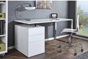 PC - stolík 18613 160x70cm Biely vysoký lesk-Komfort-nábytok