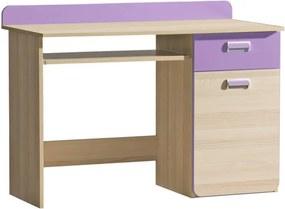 Počítačový stôl EGO L10 jaseň / fialový Tempo Kondela