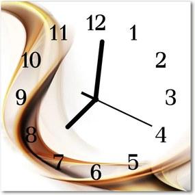 Nástenné sklenené hodiny  abstrakcie