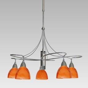Závesné svietidlo PREZENT CARRAT oranžová / nikel 12038