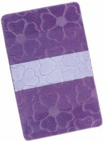 Bellatex Kúpeľňová predložka Avangard Kvety fialová, 60 x 100 cm