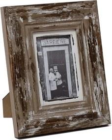 Hnedý drevený fotorámček Ego Dekor, na fotografiu 13 x 18 cm