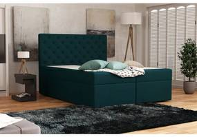 Elegantná čalúnená posteľ 120x200 ALLEFFRA - modrá 3