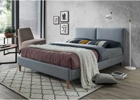 Čalúnená posteľ ACOMA 160x200 cm sivá Matrac: Bez matrace