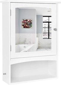 Rongomic Kúpeľňová skrinka so zrkadlom ALEX biela