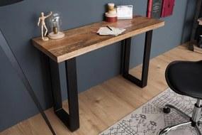 IIG -  Dizajnový konzolový stôl IRON CRAFT 115 cm mango, prírodný