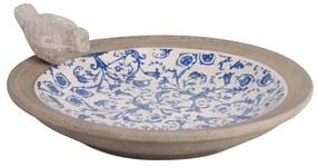 Modro-biele keramické napájadlo pre vtáčiky Ego Dekor