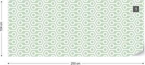 Fototapeta GLIX - Green Geometric Retro Pattern + lepidlo ZADARMO Vliesová tapeta  - 250x104 cm