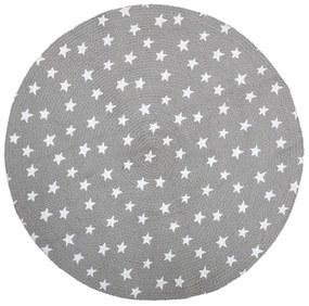 Bloomingville Detský jutový koberček Stars Grey 100 cm