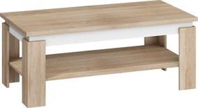 MEBLOCROSS Beta konferenčný stolík sonoma svetlá / biela