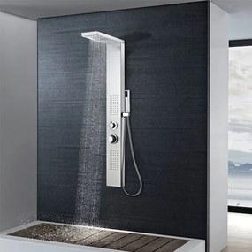 vidaXL Štvorcový sprchový panel, nerezová oceľ