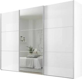 Sconto Šatníková skriňa ENSENSO biela/zrkadlo