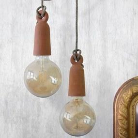 Moje lampa keramická závesná lampa conus loop duo brick