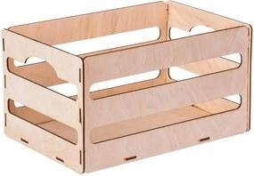 ČistéDrevo Dřevěný box z překližky II 31X20X16.5 CM