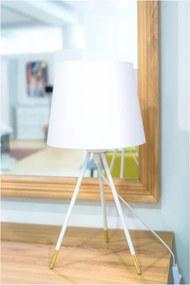 TEMPO KONDELA Jade Typ 5 stolná lampa biela