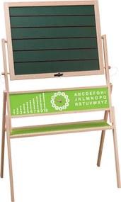 "WOODY Magnetická tabuľa ""Lexa"" s počítadlom, abecedou a hodinami"