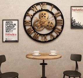 Dizajnové nástenné hodiny MOTO 3 50cm