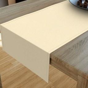 Goldea dekoračný behúň na stôl loneta - smotanový 20x120 cm