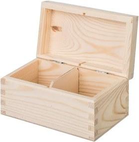 Drevobox Drevená krabička na čaj (2 priehradky)