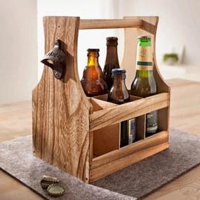 Drevená prepravka na fľaše
