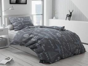 Bavlnené obliečky Boathouse sivé Rozmer obliečok: 70 x 90 cm, 140 x 220 cm