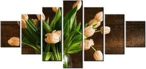 Tlačený obraz Nádherné tulipány a zelené jablká 210x100cm 2151A_7A